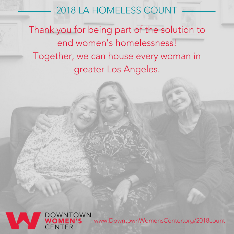 2018 LA Homeless Count - Thank you